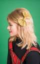 Gold Glitter Hair Bow by Stephanieverafter