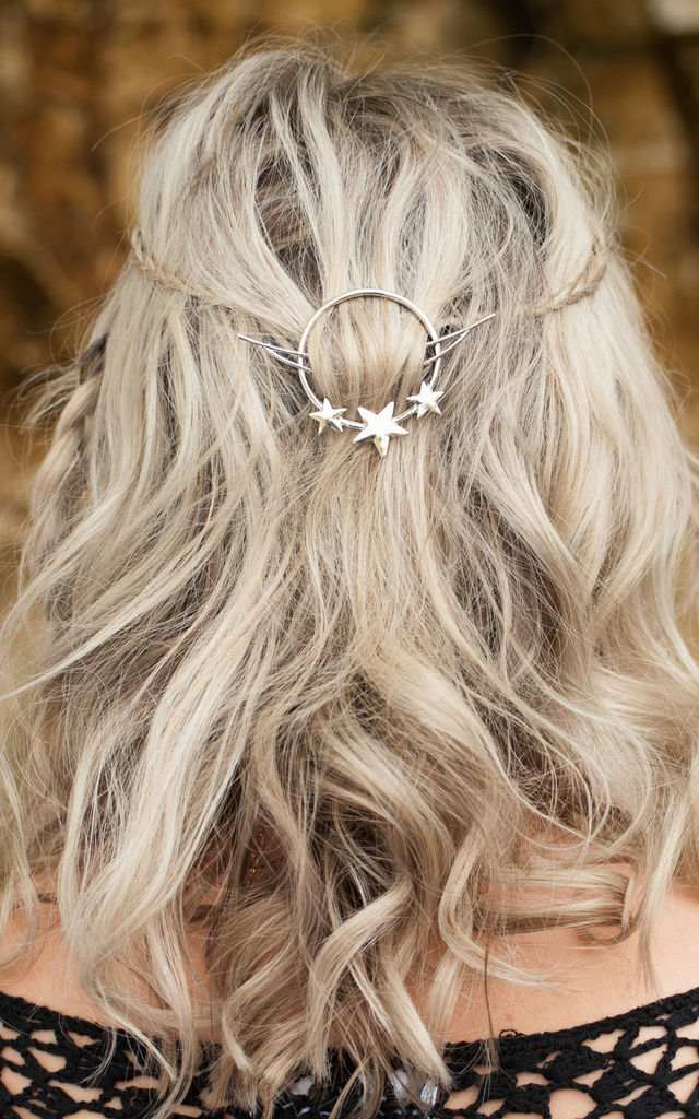 Silver Star Hair Clip by Stephanieverafter