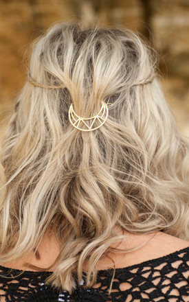 Gold Moon Hair Clip by Stephanieverafter