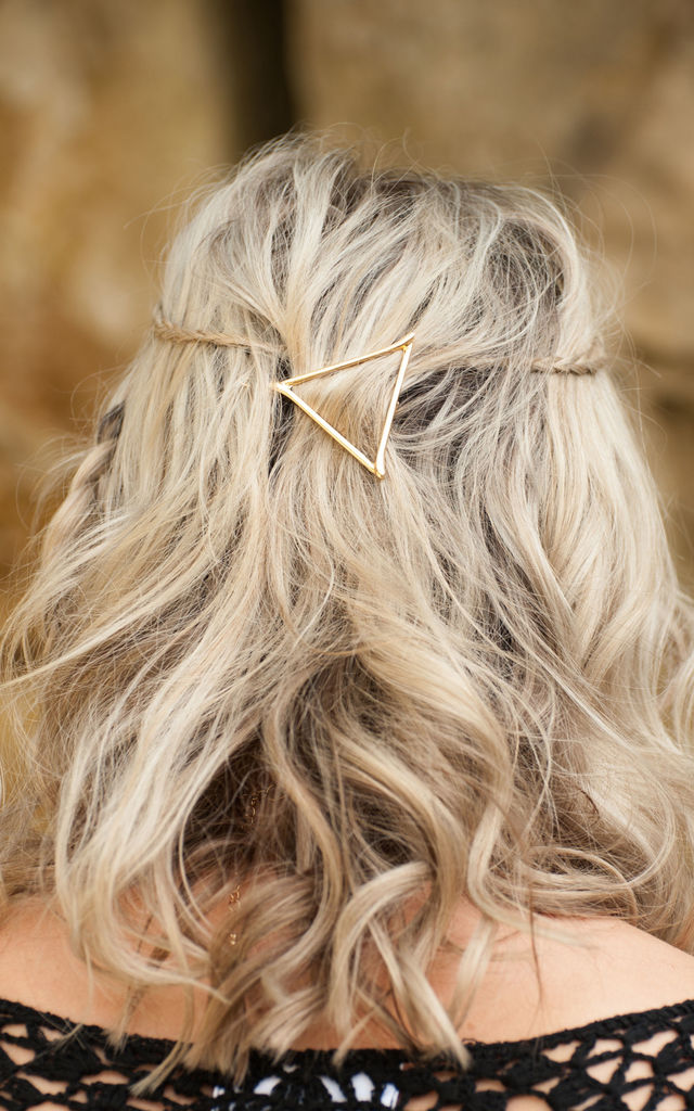 Gold Triangle Hair Clip by Stephanieverafter
