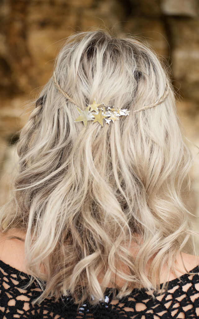 Silver Star Hair Barrette by Stephanieverafter