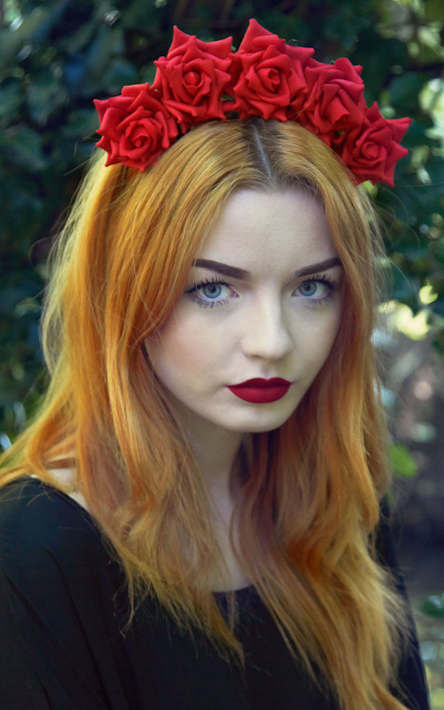 Wild Rose Crown Red by Stephanieverafter