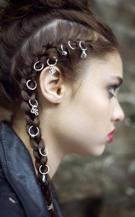 Dhyana Silver Hair Rings by Stephanieverafter