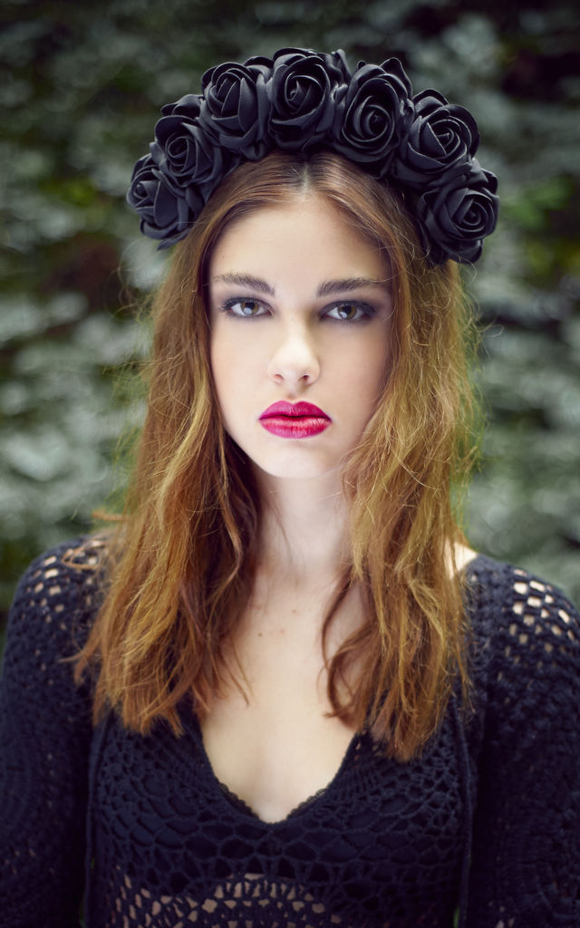 Black Statement Rose Crown by Stephanieverafter