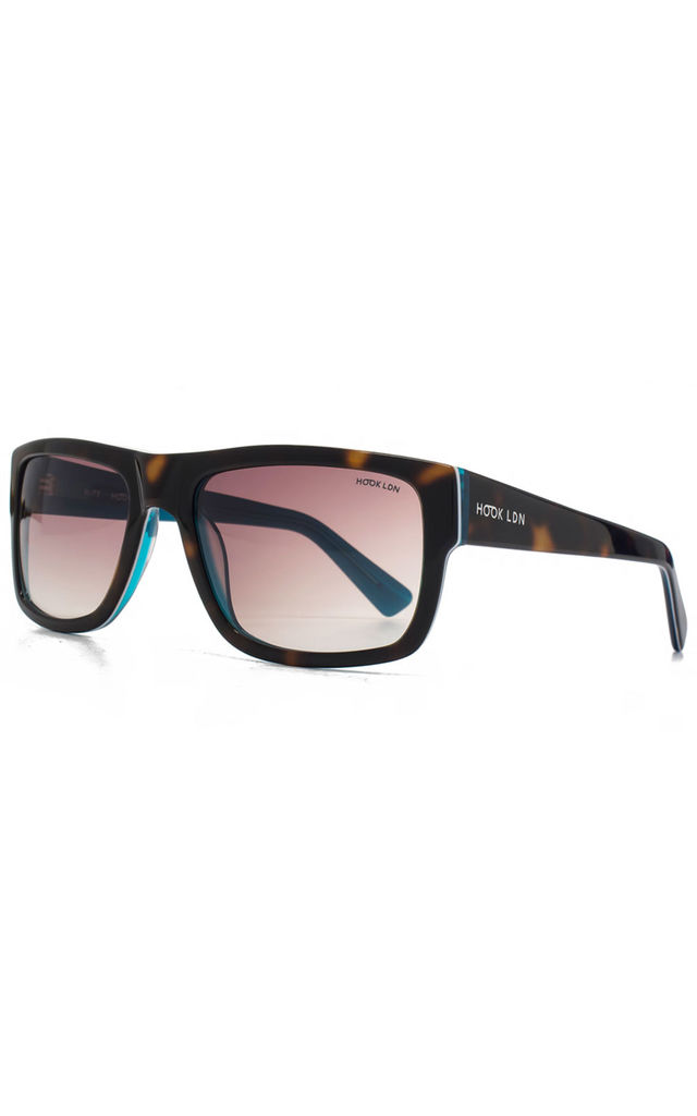 Blitz Turquoise Sunglasses by Hook LDN