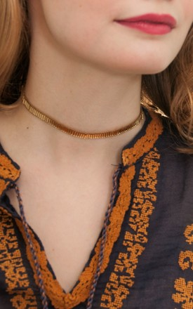 Gaia Choker Necklace in Gold by Amadoria