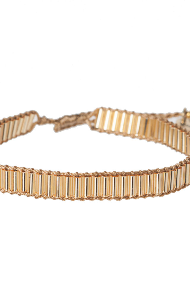 Gaia Beaded Bracelet in Gold by Amadoria