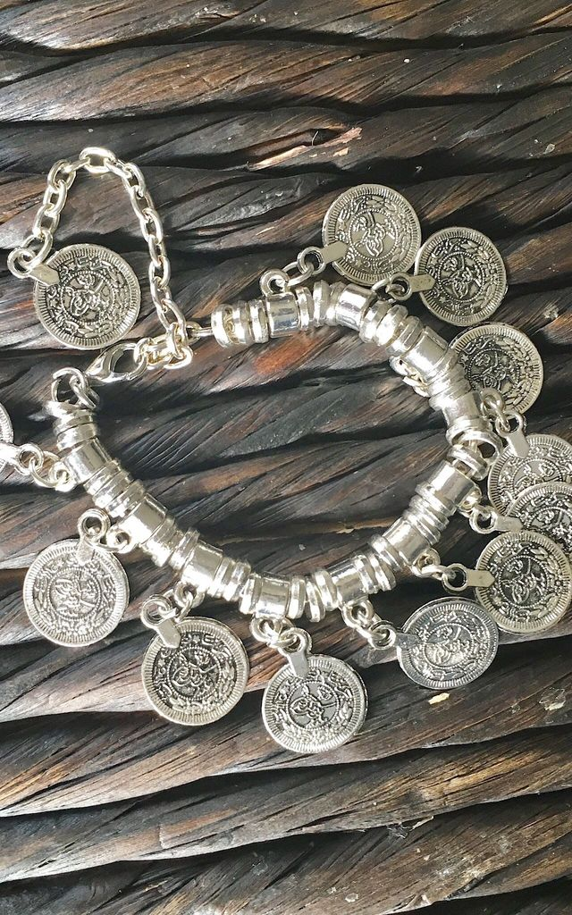Kuchi coin silver bracelet, anklet by Lovelock jewels