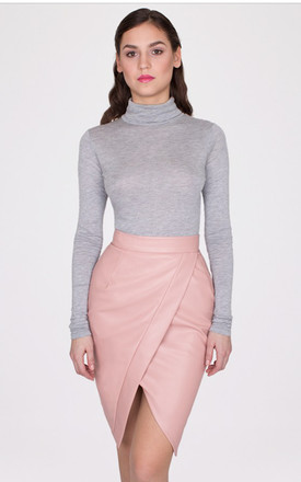 Leather Wrap Midi Skirt by MISSTRUTH