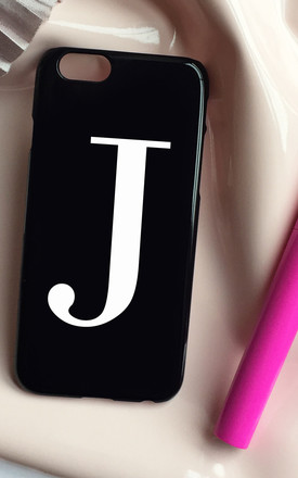Glossy black & white alphabet phone case by Rianna Phillips