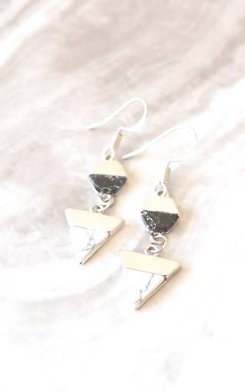 Geometric Marble Earrings by Kate Canning Jewellery