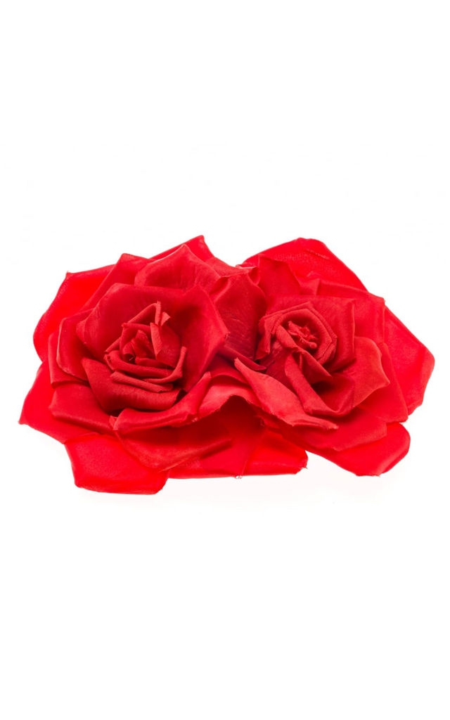 Serena Red Double Rose Corsage by Johnny Loves Rosie