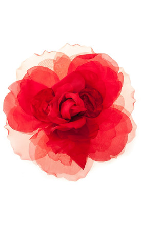 Carrie Red Statement Floral Corsage by Johnny Loves Rosie