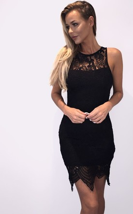 Floral Lace Dress - Black by AJ | VOYAGE