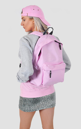Baby pink classic backpack by The Left Bank