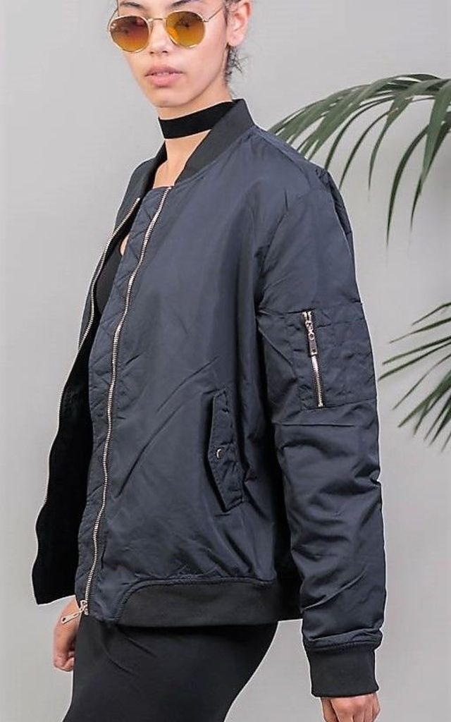 NAVY BOMBER JACKET by KLOZME