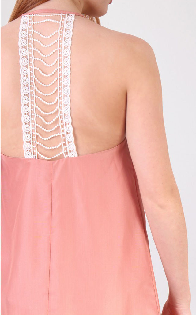 Crochet Back Detail A Line Dress by MISSTRUTH
