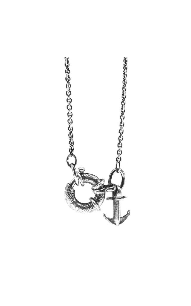 Clyde Silver Anchor Necklace Pendant by ANCHOR & CREW