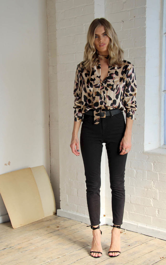 Chester Shirt Leopard by Never Fully Dressed