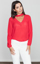 Red Detail Choker Blouse by FIGL