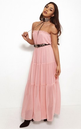 New Pink Goddess Maxi Dress by The Fashion Bible