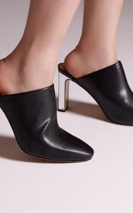 Mules Silver Heel - Real leather by Jovonna London