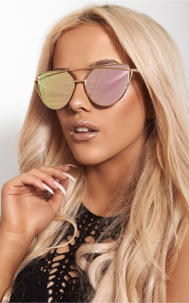 Ania Gold High Bar Sunglasses by The Fashion Bible