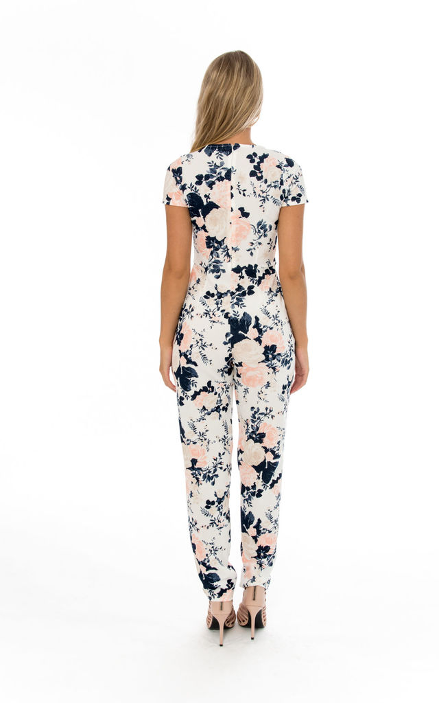 Floral Print Cap Sleeve Jumpsuit by Npire London