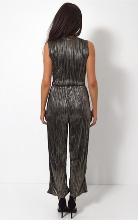 Black Satin Jumpsuit by The Fashion Bible