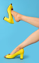 Westbourne Lemon High Heels by Yull Shoes