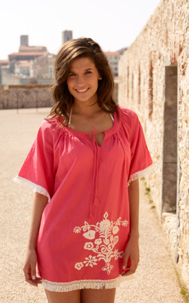 Coral beach dress by La Mandarine Beachwear
