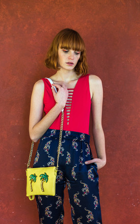 Tulum Yellow Palmera Bag by Tea & Tequila