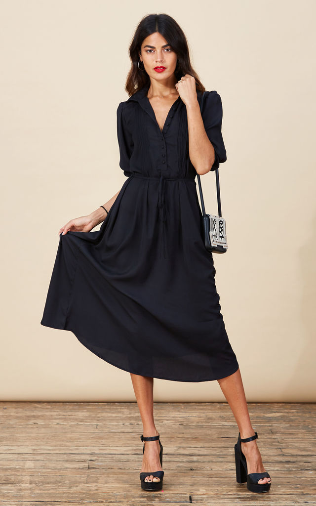 Amalia Dress in Black image