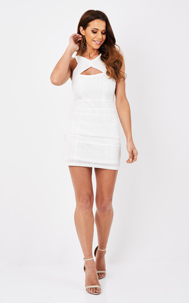 White Cut Out Mini Dress by Glamorous Product photo