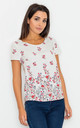Scoop neck top in floral print by FIGL
