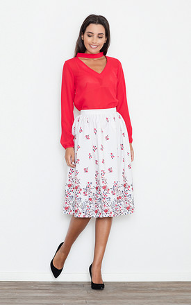 Midi Skirt in floral print by FIGL