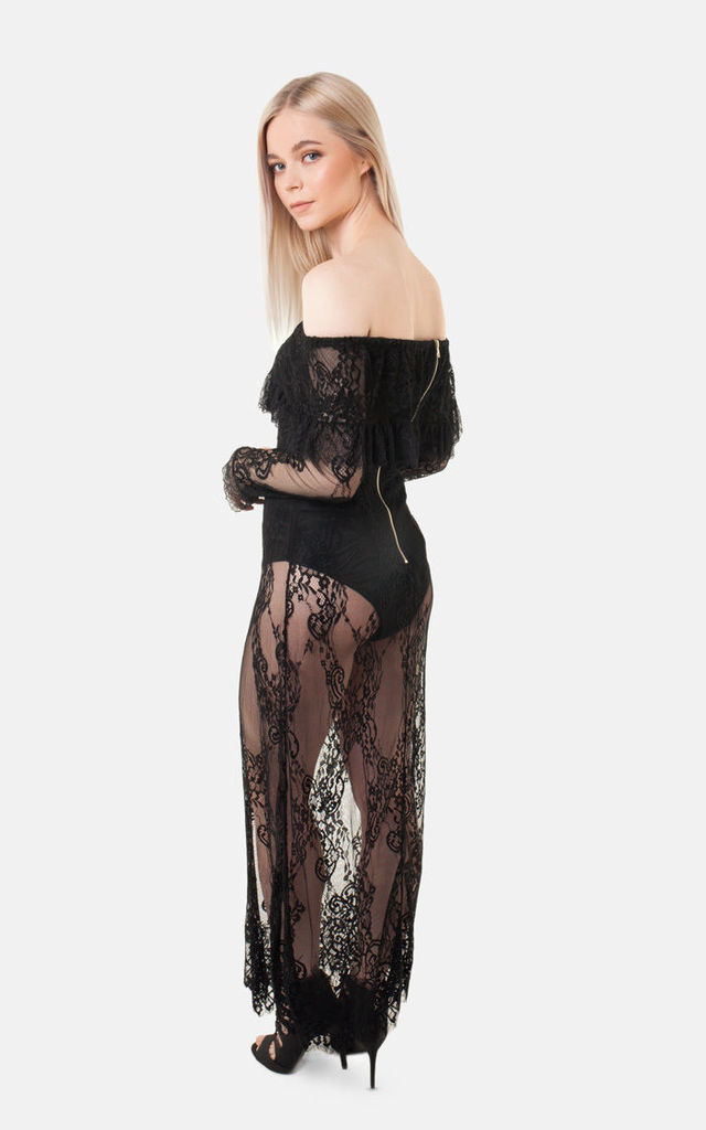 Off The Shoulder Lace Dress by Moth Clothing