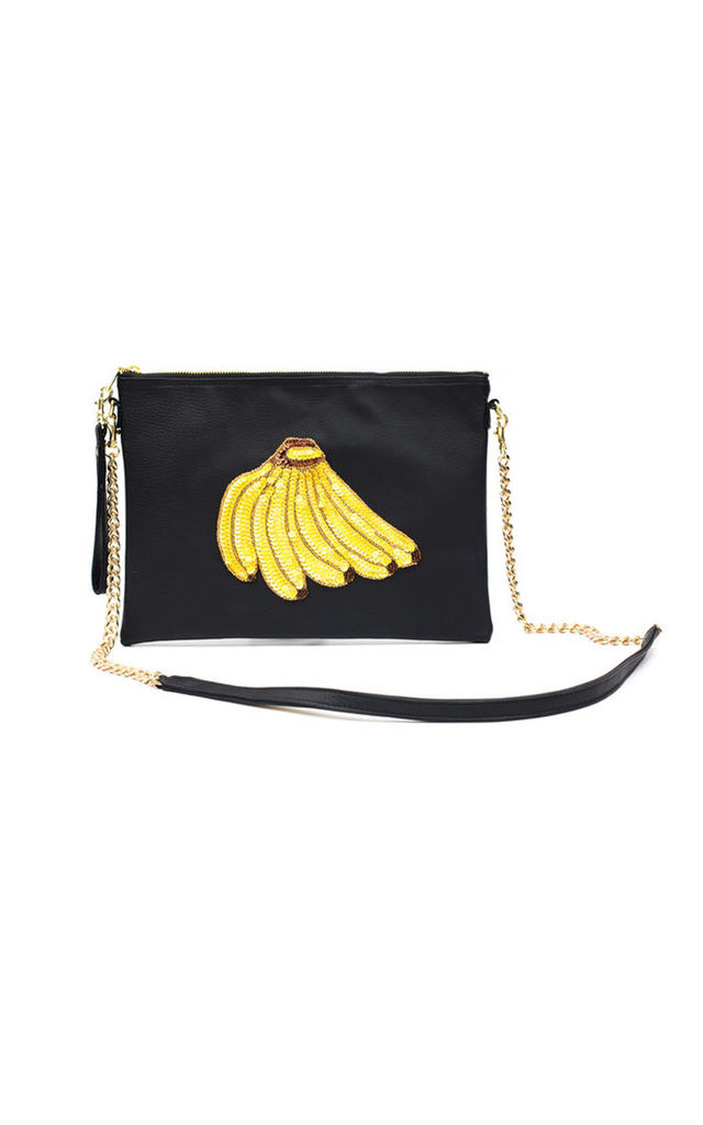 Colima Black Banana Bunch Bag by Tea & Tequila