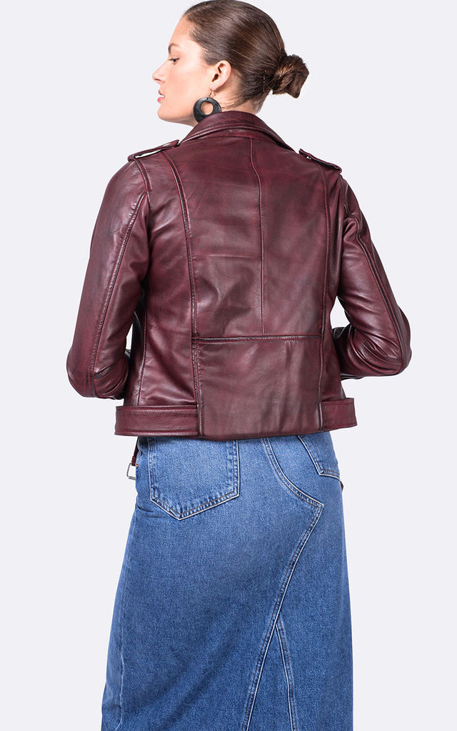 Oxblood WB2 red leather jacket by VIPARO