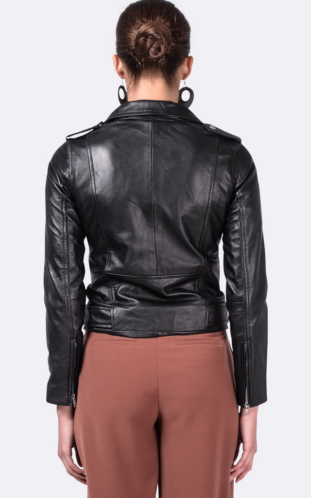 Black WB2 Leather Jacket by VIPARO