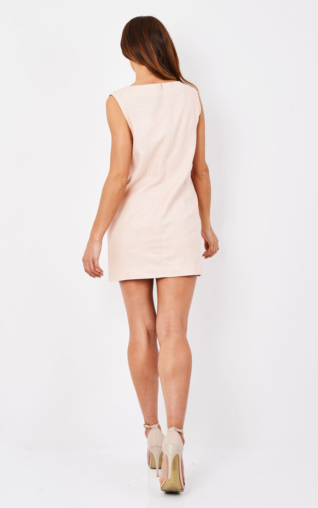 Ashley Patch Pocket Mini Dress by TwentyFour Fashion