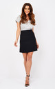Reeta Mini Skirt in Black by TwentyFour Fashion