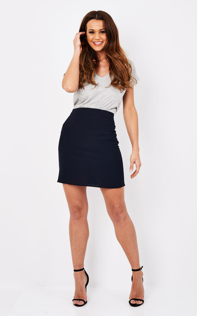 Reeta Mini Skirt in Navy by TwentyFour Fashion