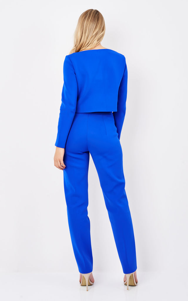 Jessi Neoprene Suit in Blue by TwentyFour Fashion