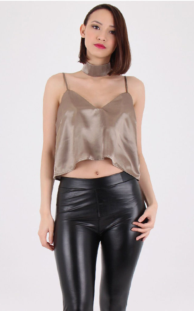 Detachable Choker Neck Top Grey by MISSTRUTH