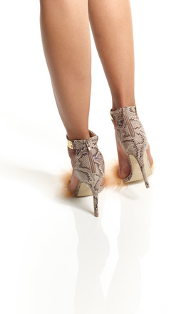 Samaria Snake Heels by Pommy Shoes