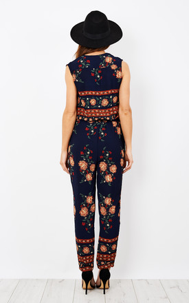 Bohemian Style Floral Jumpsuit by Oeuvre