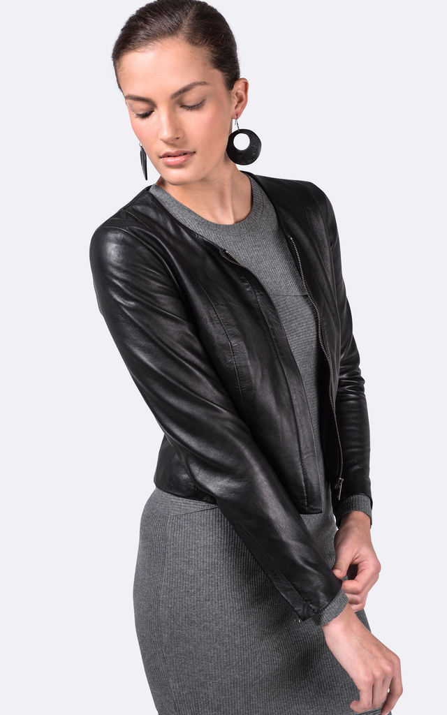 Black Tanya Jacket by VIPARO