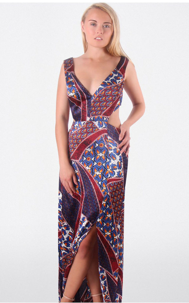 Paisley Print Cut Out Maxi Dress by MISSTRUTH