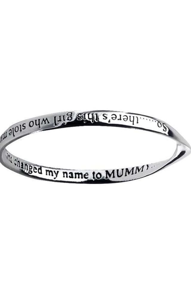 A girl who stole my heart Affirmation Bangle by Nautical and Nice Ltd
